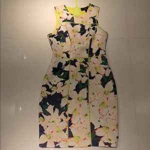 """Jcrew Neoprene """"scuba"""" dress in floral motif"""